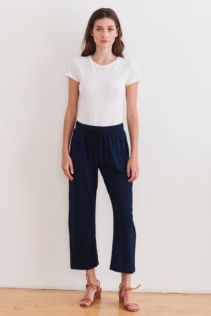 WENDY VINTAGE SLUB PANT IN MIDNIGHT