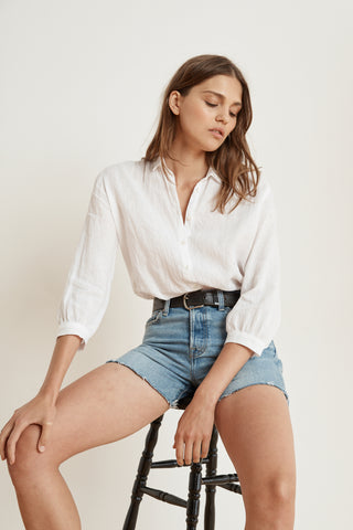 KIM LINEN SHIRT IN WHITE
