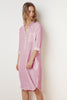 NANDY WOVEN LINEN SHIRT DRESS IN CANDY
