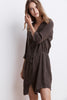 REGINA WOVEN LINEN SHIRT DRESS IN TUNDRA