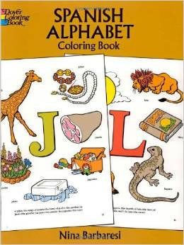 Spanish Alphabet Coloring Book (Spanish-English)