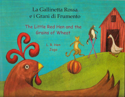 The Little Red Hen and the Grains and Wheat  (Polish-English)