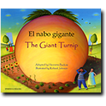 Bilingual Arabic Children's Book: The Giant Turnip (Arabic-English)