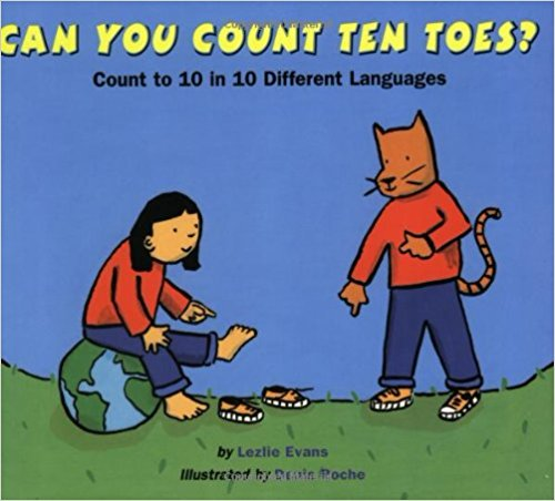 Can you count 10 toes? (Chinese, French, Hindi, Hebrew,Japanese, Korean, Russian, Spanish, Tagalog, Zulu)