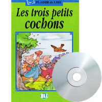 Les trois petits cochons, CD+Book (French)