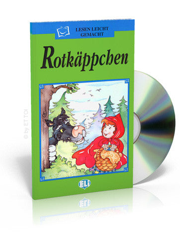 German Children's Book & CD: Red Riding Hood - Rotkappchen (German)