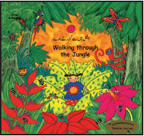 Bilingual Chinese Children's Book: Walking through a jungle (Chinese-English)