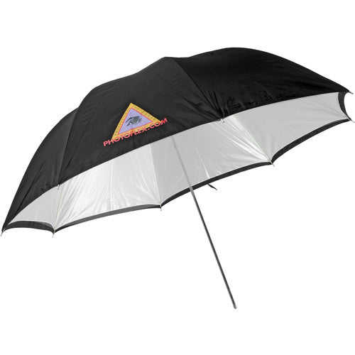 "45"" Convertible converts from reflective Umbrella to a Shoot thru w/removable Black Cover"