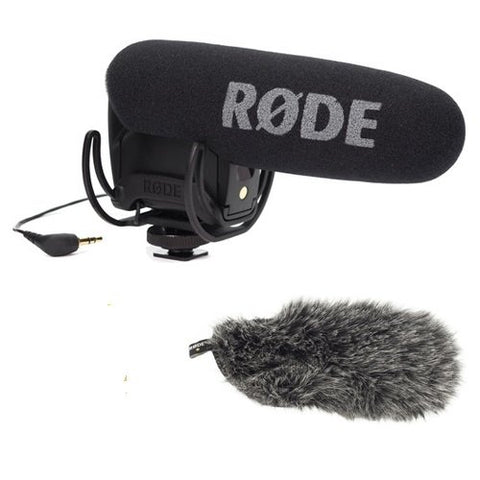 Rode Microphones VideoMic Pro Compact Shotgun Microphone + Deadcat Furry Cover