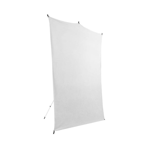 Savage 5x7' White Background Backdrop Travel Kit, with Aluminum Stand & Carry Bag