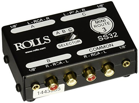 rolls SS32 3-Way Stereo Switch