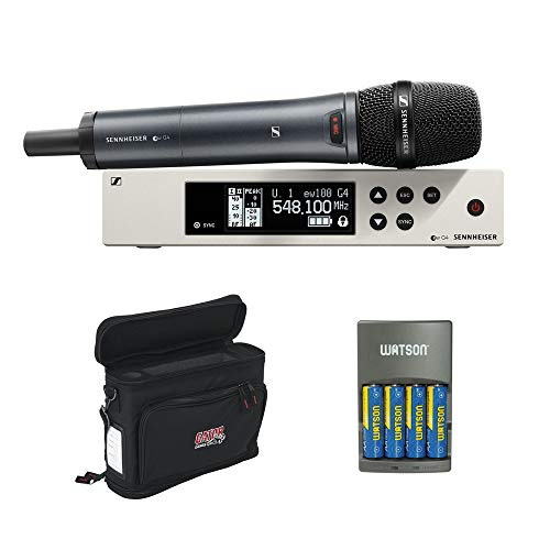 Sennheiser ew 100-845 G4-S Wireless Handheld Microphone System with GM-1W Wireless Mobile Pack & 4-Hour Rapid Charger Kit