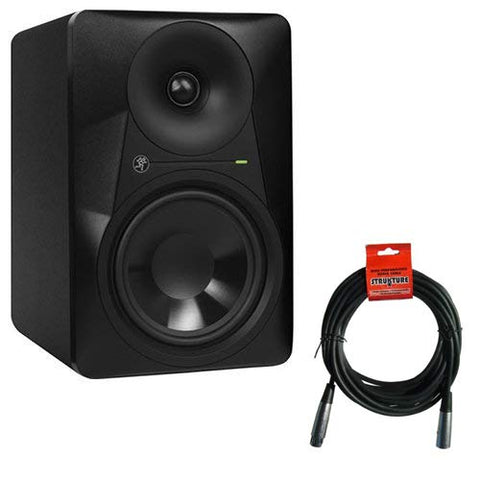"Mackie MR624 - 6.5"" 2-Way Powered Studio Monitor (Single) with XLR- XLR Cable"