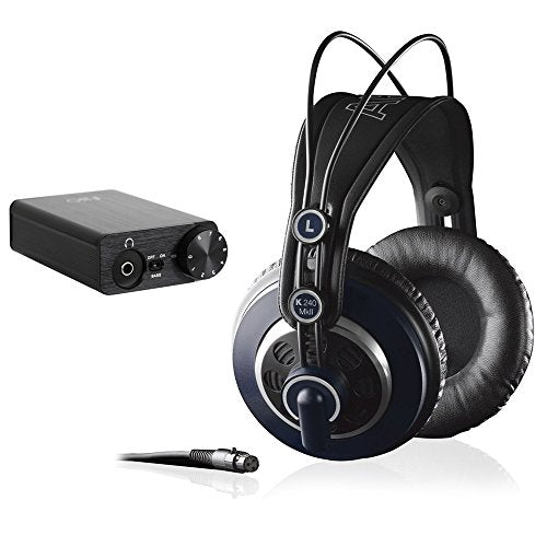 AKG K 240 MK II Professional Semi-Open Stereo Headphones with FiiO E10K USB DAC Headphone Amplifier