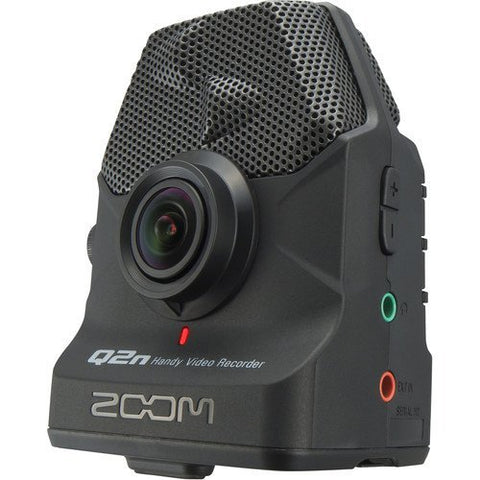 Zoom Q2n Handy Video Recorder with Handheld Video Stabilizer and Cleaning Cloth