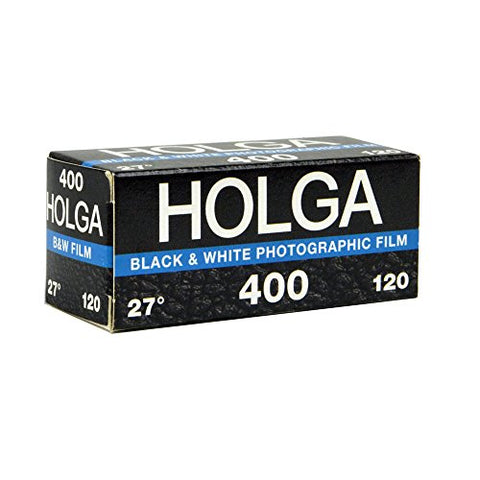 Holga 400 ISO Black & White Photographic Film, 120 Size