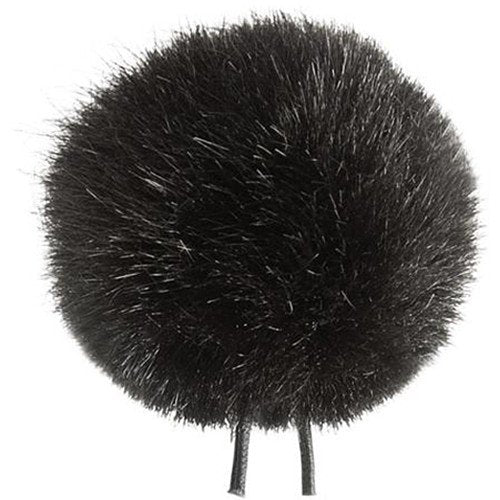 Bubblebee Industries Windbubble Miniature Imitation-Fur Windscreen (Lav Size 4, 42mm, Black)