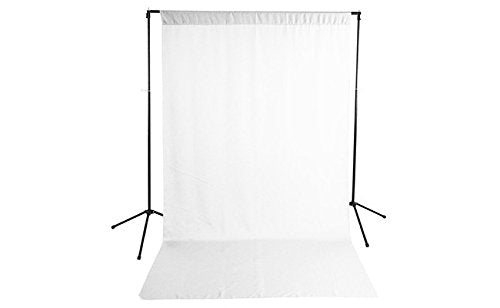 Savage Economy Background Support Stand with Backdrop 5x9 ft - White 59-9901