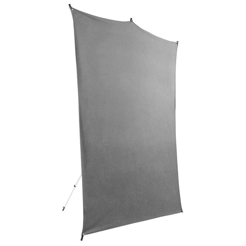 Savage 5x7' Gray Background Backdrop Travel Kit w/ Aluminum Stand & Carry Bag