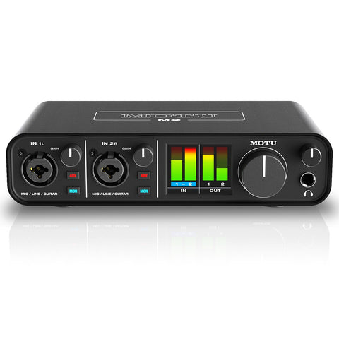 Motu M2 2x2 USB Audio Interface with Studio Quality Sound