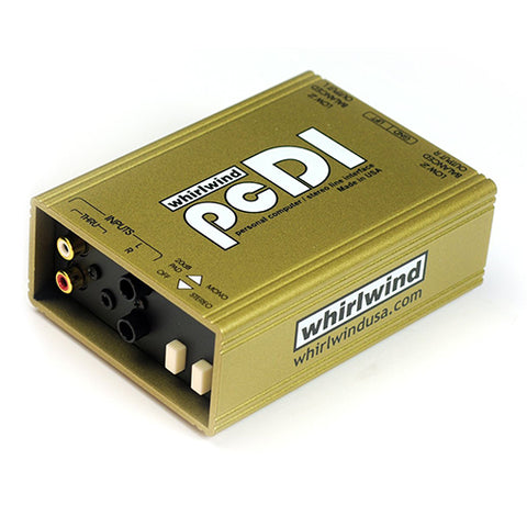 Whirlwind pcDI for Outputs CD Players, Sound Cards, iPod MP3 Players