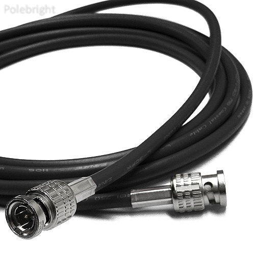 Canare 3' L-3CFW RG59 HD-SDI Coaxial Cable with Male BNCs (Black)