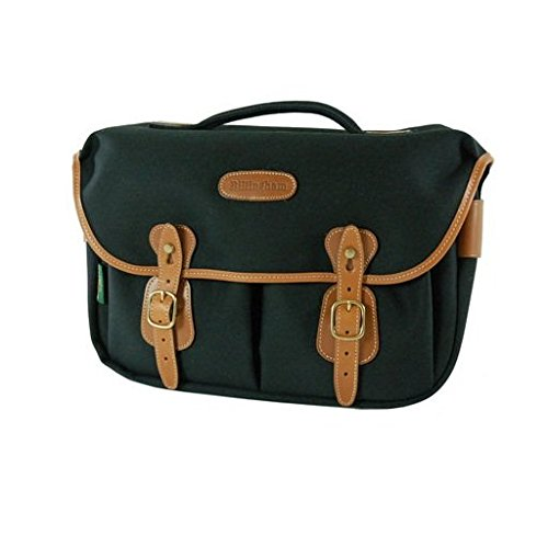 Billingham Hadley Pro Shoulder Bag (Black with Tan Leather Trim)