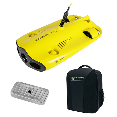 CHASING-INNOVATION Gladius Mini Underwater ROV Kit (100M Tether) with CHASING Backpack Pro & Silica Gel Metal Case Bundle