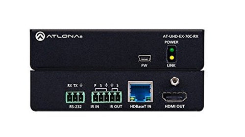 Atlona 4K/UHD HDMI Over HDBaseT Receiver with Control and PoE (70m)