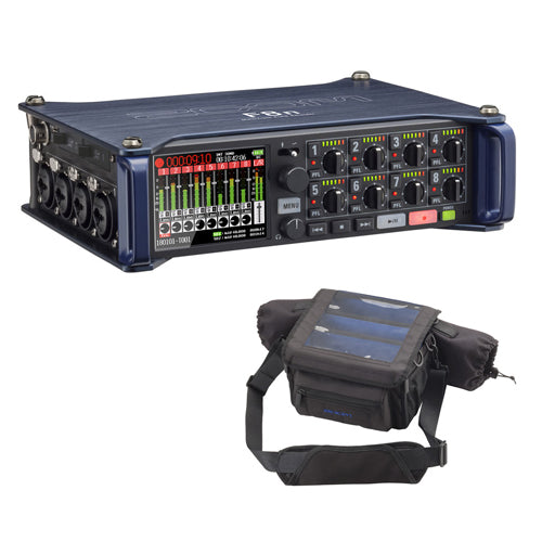 Zoom F8n Multi-Track Field Recorder with Protective Case For F8n Recorders Bundle