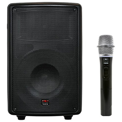 "Galaxy Audio Traveler Quest TQ8-40H0N 8"" Speaker with Wireless Handheld Microphone, Single"