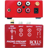 Rolls VP29 Phono Preamp with 2 RCA Male to 2 RCA Male Dual Audio Cable -3'