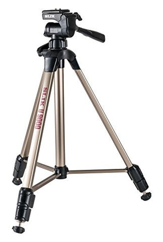Slik U9000 Tripod with 3-Way Pan / Tilt Head (Quick Release) - Supports 4.40 lb