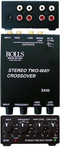Rolls SX45 - 2-Way Stereo Crossover with Mono Sub Output