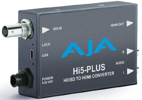 AJA Hi5 Plus 3G-SDI to HDMI Converter with PsF to P Support