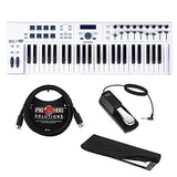 Arturia KeyLab Essential 49 Universal MIDI Controller and Software with 6ft MIDI Cable, Sustain Pedal & Keyboard Dust Cover (Small) Bundle