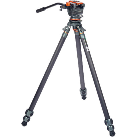 3 Legged Thing Mike Carbon Fiber Tripod with Quick Leveling Base and AirHed Cine-A Fluid Head System