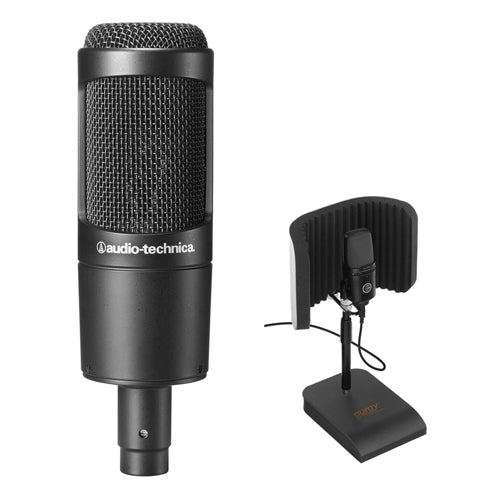 Audio-Technica AT2035 Cardioid Condenser Microphone with RFDT-128 Desktop Reflection Filter and Mic Stand