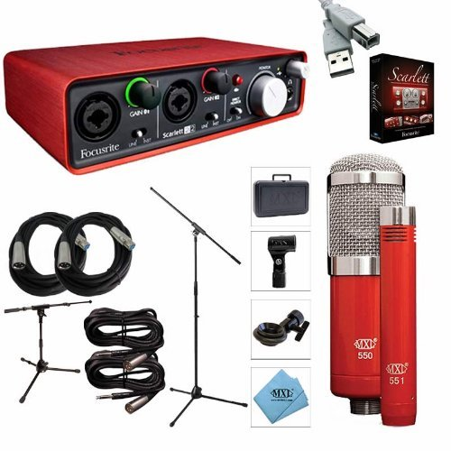 Focusrite Scarlett 2i2 Interface Recording Package