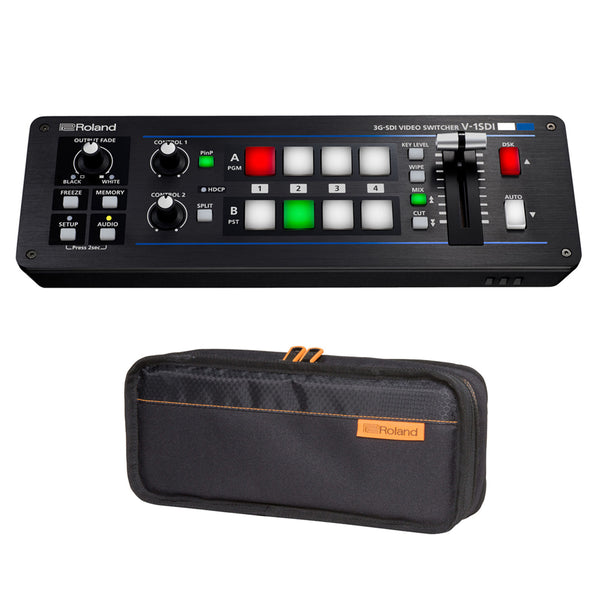 Roland V-1SDI 4-Channel HD Video Switcher with Roland CB-BV1 Carry Bag for V-1SDI Video Switcher Bundle