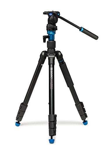 Benro A1883FS2C Aero2 Travel Angle Video Tripod Kit (Black)