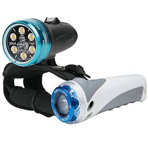 Light & Motion SOLA Dive 1200 S/F and GoBe S 500 Spot LED Light Combo Kit