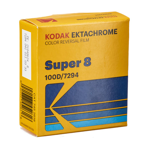 Kodak Ektachrome 100D Color Transparency Film #7294 (Super 8, 50' Roll)