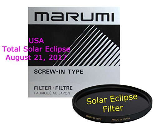 Marumi 77mm Solar Eclipse Filter ND Glass Neutral Density Filter 16.6 Stops Made in Japan