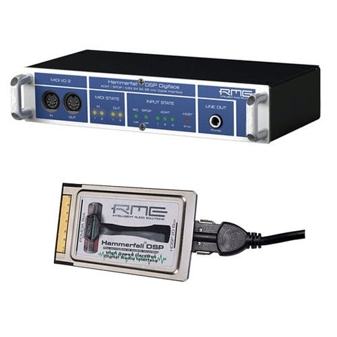 RME Digiface - 52 Channel 24-Bit/96kHz I/O Box for Mac OS X and Windows 2000/XP with RME HDSP CardBus