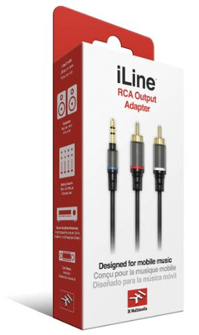 IK Multimedia iLine RCA Output Adapter IK Multimedia Cable for Mobile Phones and Tablets - Retail Packaging - Black