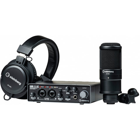 Steinberg UR22C Recording Pack with Mic & Headphones