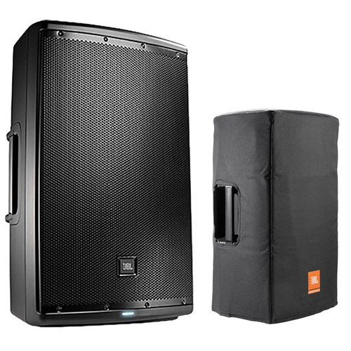 "JBL EON615 1000W 15"" 2-Way Powered Speaker System With Bluetooth Control with JBL BAGS EON615-CVR Cover for EON615 (Black)"