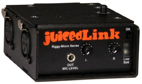juicedLink RM222 Riggy-Micro Dual-XLR Preamplifier with Phantom Power