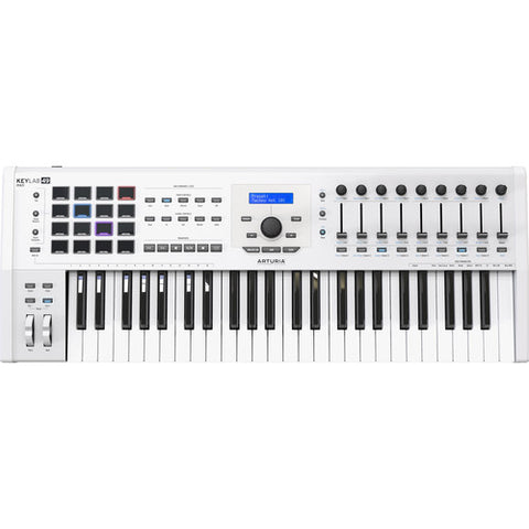 Arturia KeyLab MKII 49 - Professional MIDI Controller and Software (White)